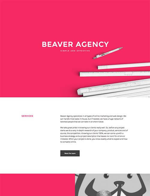 beaver-agency-template